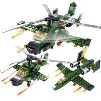 Field troops Military Educational Tank Airplane DIY Building Blocks Toys For Children Gifts Compatible With Legoing weapon