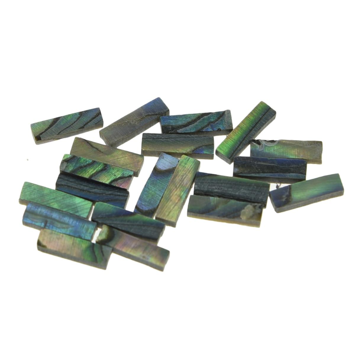 20x Dopro Real New Zealand Abalone Shell Binding Inlay Purfling Strips for Guitar Mandolin Ukulele Marker 7mm*2mm*1.5mm