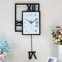 Fashion wall clock swing clock modern decoration clocks pocket watch personalized electronic clock