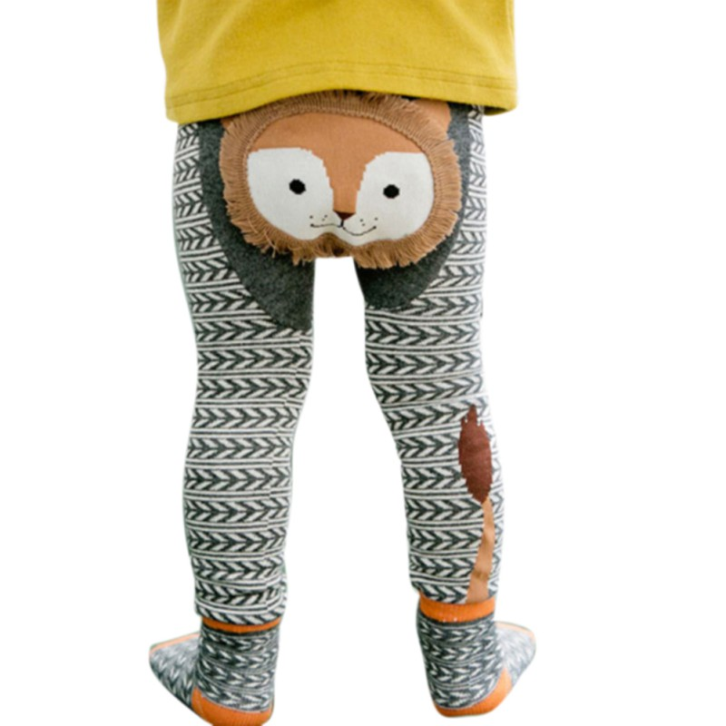 Baby Cartoon Cute Autumn Winter Baby Boys Girls Cartoon Funny Leggings Warmer Cotton PP Pants Trousers+Socks 0-6Y j2