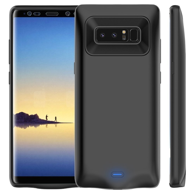 5500 mAh External Battery Charger Case For Samsung Galaxy Note 8 Ultra Slim Thin Backup Power Bank Charger Cover For Note 8