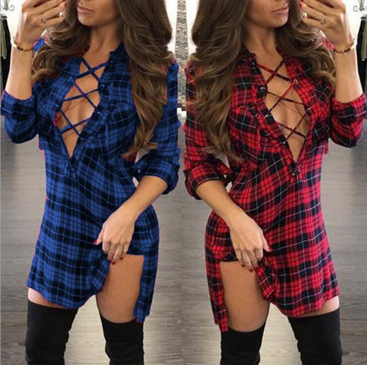 HTB1taMaQpXXXXXHXFXXq6xXFXXXC - FREE SHIPPING loose long-sleeved Sexy V-neck mini dresses JKP109