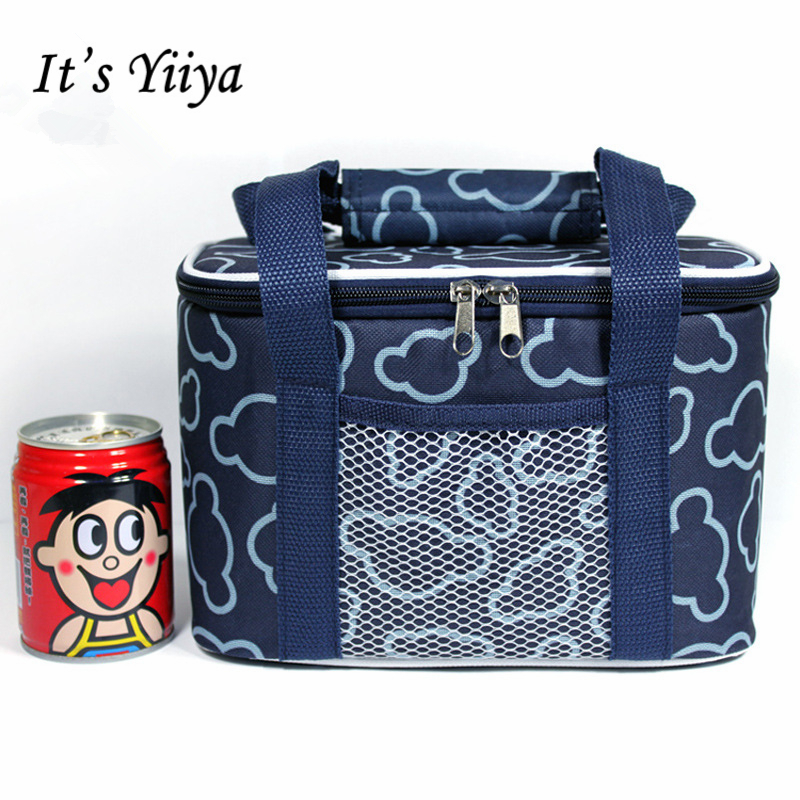 Its Yiiya Popular Oxford Insulated Picnic Cooler Bag Lunch Bag Floral Portable Travel Thermal Bags for Food BW016