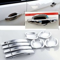 High quality For Chevrolet Sail 3 2015 ABS Car Styling Chrome Side Door Handle Cover and Door Bowl Cover