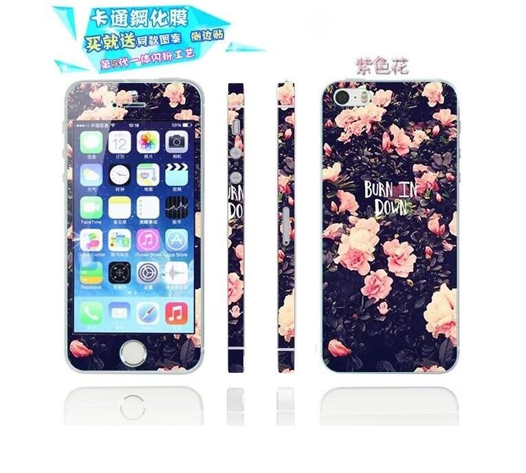 Coque de téléphone double couche avant arrière pour iphone 5 5 S SE 5C housse de protection complète en verre trempé Film bouclier ultra-mince iphone ...