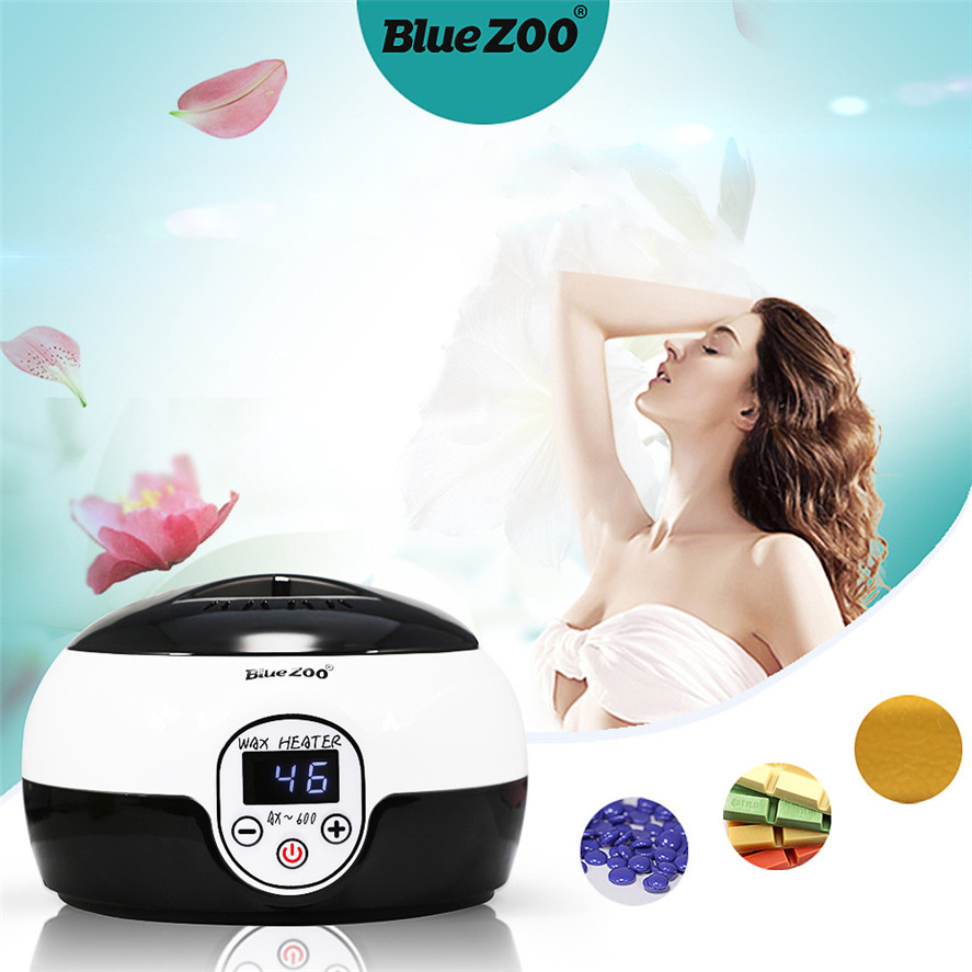 цены New Hair Removal Wax Blue Zoo 100g Hair Removal Bean+20PCS Wiping Sticks+1PC Hot Wax Warmer Heater Pot Depilatory Set 30