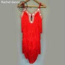 New 2017 Latin Dance Dresses Suits Women/Girls Sexy Fringes long Skirt Ballroom/Tango/Rumba/Latin Dresses Clothings For Dancer