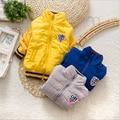 BibiCola Дети верхняя одежда мальчики весна осень рождество одежда ребенка хлопка-ватник ребенок тенденция все матч ватные куртки