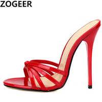 Plus Size 48 Slippers Women 2019 High heels Flip Flops drag queen Big size Shoes High Quality Super Light High-heeled 13cm