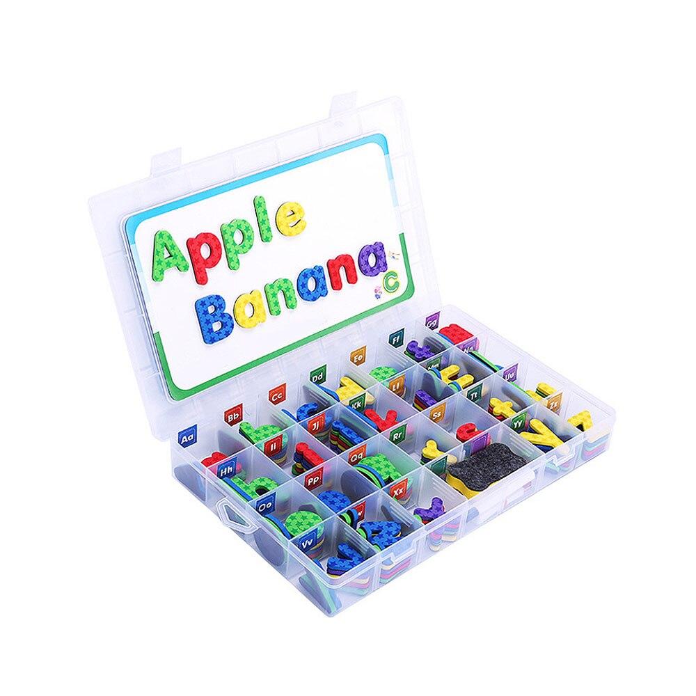 Alphabets de classe pour enfant orthographe et apprentissage Kit de lettre en mousse magnétique ensemble avec tableau magnétique jouet éducatif pour cadeau de bébé