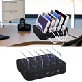 Multi-port 5 Ports Universal Detachable USB Charging Station Stand Desktop Charger for Multiple Devices