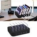Multi-puerto 5 Puertos Universal Cargador de Escritorio Estación de Carga Del Soporte para Múltiples Dispositivos USB Desmontable
