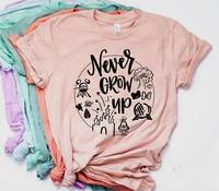 Женская Повседневная футболка с рисунком Минни, футболка с принтом «Never Grow Up», футболка в стиле tumblr, хипстерские футболки, новинка 2019