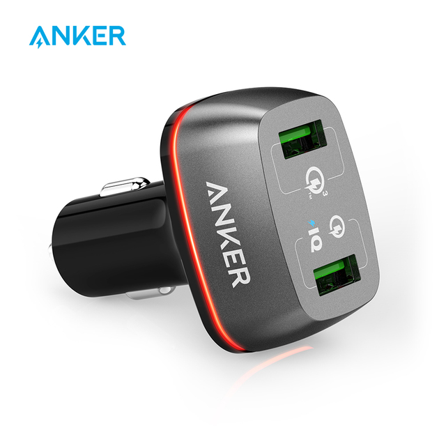 Quick Charge 3.0 Anker 42W 2-Port USB Car Charger PowerDrive+ 2 with Quick Charge 3.0 and Quick Charge 2.0 with PowerIQ