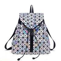 2017 Fashion Women Backpacks Feminine Geometric Plaid Sequin Female Backpacks For Teenage Girls Bagpack Drawstring Women