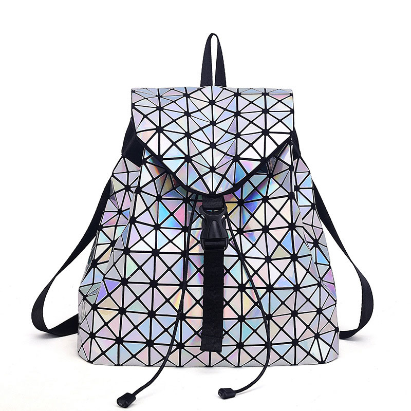 2017 Fashion Women Backpacks Feminine Geometric Plaid Sequin Female Backpacks For Teenage Girls Bagpack Drawstring Women Bags