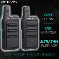 מכשיר הקשר 2pcs Retevis RT619 מיני מכשיר הקשר רדיו תחנת מערבל Ultrathin המרכב שני הדרך רדיו נייד USB PMR446 FRS VOX (1)