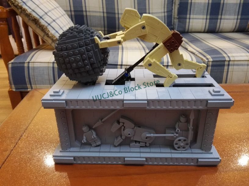 LEPIN Technic Series 23017 The MOC Sisyphus Moving Model Building Blocks Bricks Children Educational Toys Christmas 1518 Gift lepin 16050 the old finishing store set moc series 21310 building blocks bricks educational children diy toys christmas gift