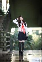 Japón Anime Hell Girl Enma Ai Cosplay de Las Mujeres COS uniformes escolares marinero traje TOP + Skirt + Tie
