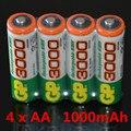 A estrenar 2016 0 riginal 4 unids/lote gp 1.2 v nimh aa 1000 mah batería recargable aa baterías pilas recargables