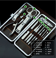 12 in 1 Manicure Set Wholesale Pedicure Scissor Tweezer Knife Utility Nail Clipper Kit, Stainless steel Nail Care Tool Sets