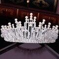 High quality European bride Crystal pearl crown wedding dress hair accessories studio photo accessories bridal jewelry1503