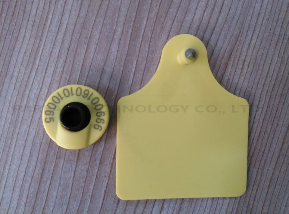 134.2KHz ISO Standard LF Passive HDX  RFID ear tag for animal cattle sheep pig management x10pcs rfid ear tag iso 11784 5 hdx electronic ear mark for pig cow sheep etc