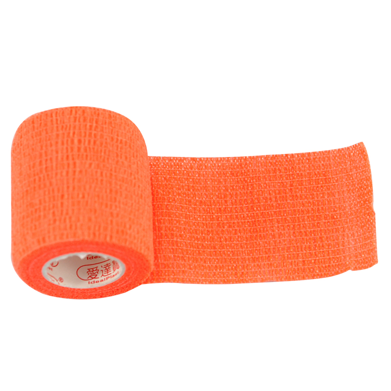 Free Shipping Pack of 9PCs 5cm*4.6m Orange Waterproof Elastic Self Adhesive Bandage Medical Bandage Pet Bandages
