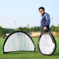 2018 Soccer Goal Portable Soccer Nets with Carry Bag Sizes Practice Train Garden Game Football Door Set nx