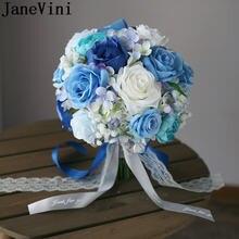 Janevini искусственные цветы для свадьбы букет белая Голубая