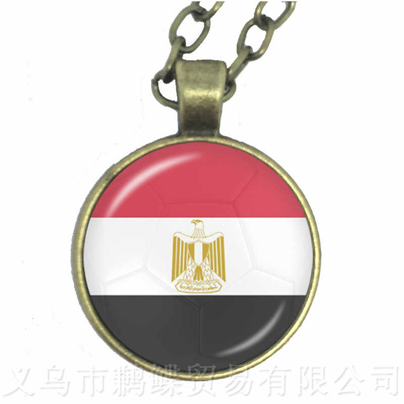 Novo 2018 Titan Cup de Futebol Nacional Bandeira Do Panamá, Austrália, Egito, Argentina, Rússia, Alemanha, dinamarca, Polónia Colar Presente Da Lembrança