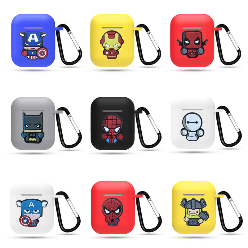 New Cartoon Wireless Bluetooth Earphone Case For Apple AirPods Silicone Charging Headphones Cases for Airpods Protective Cove
