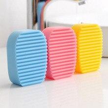 Маленькая силиконовая доска для стирки белья, 1 шт., новинка, яркие цвета, нескользящая мини-мочалка, щетка для мытья рук, инструмент для чистки