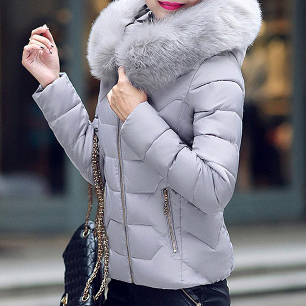 Yfashion Womens Winter Coat Ladies Jacket Hair Padded Collar Warm Hooded Outwear Top in Parkas from Women 39 s Clothing