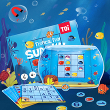 Baby's Sudoku Logic Thinking Puzzle Fun Board Game Magnetic Tropical Fish Sudoku Children Jiugongge Toys for kids gifts puzzle therapist the number addict s book of hard to extreme sudoku 200 challenging sudoku puzzles