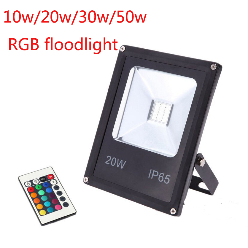 Lights & Lighting Faithful 10pcs/lot Rgb Warm White Cool White 10w 20w 30w 50w Led Outdoor Floodlight Ac85-265v Led Spotlight With Ir Remote Controller
