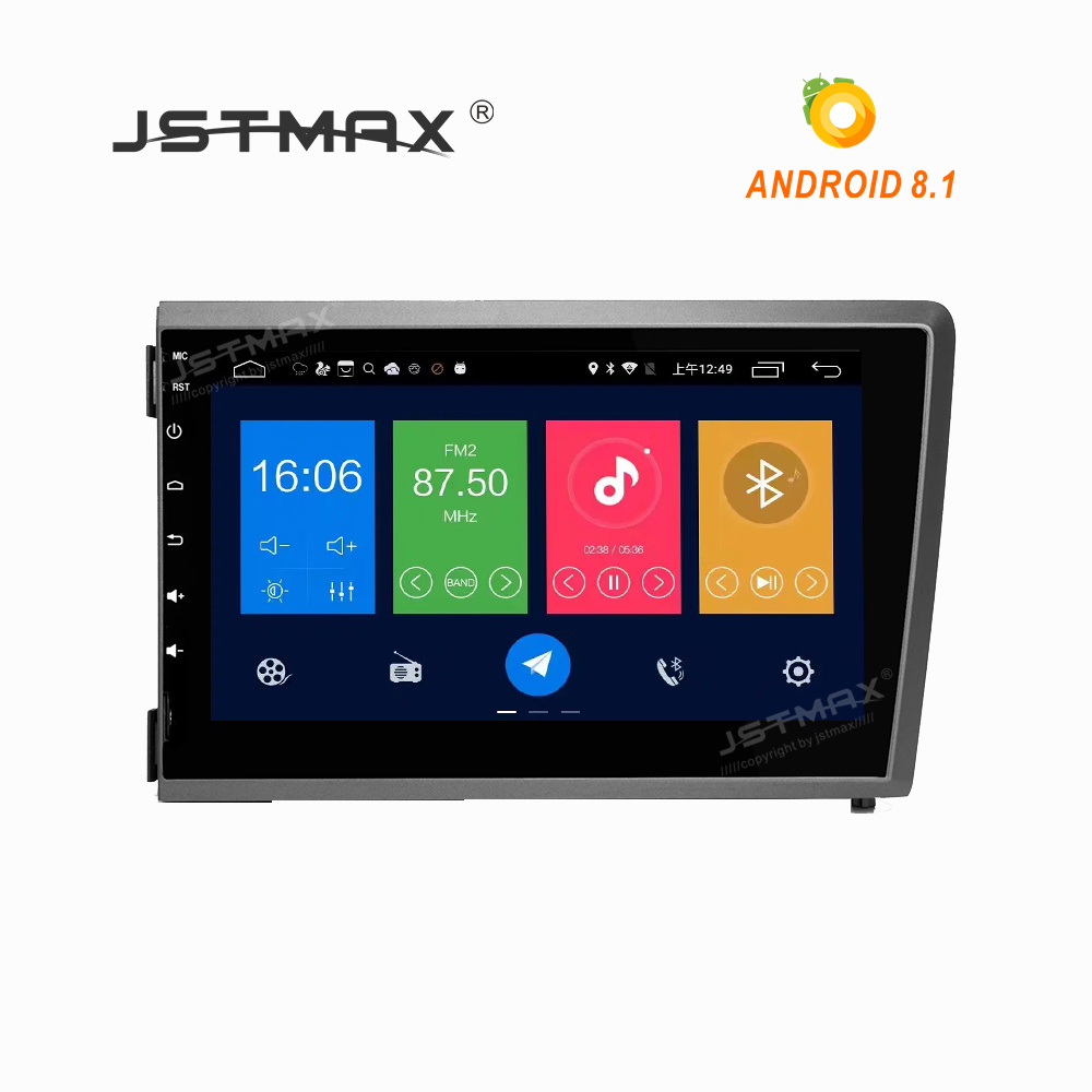 JSTMAX 8 IPS Screen Android 8.1 Car DVD GPS Player for Volvo S60 V70 XC70 2000 2001 2002 2003 2004 GPS navigation radio stereo