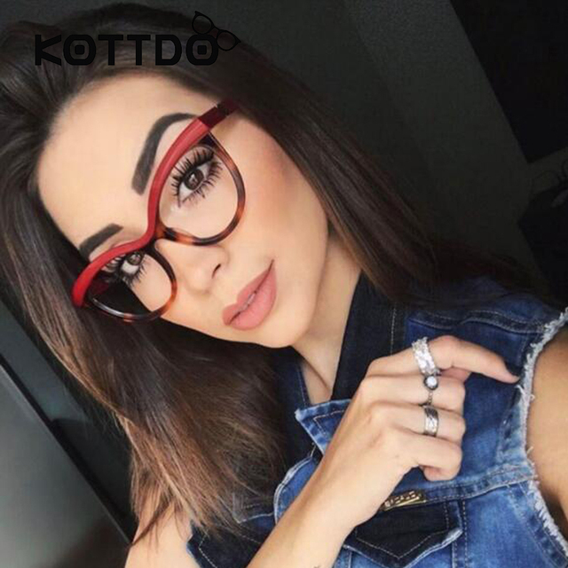6acf013d24e0 Fashion Women Red Cat Eye Glasses Frame Brand Designer Female Eyeglasses  Optical Eyewear Frames Women Spectacle Frame Oculos