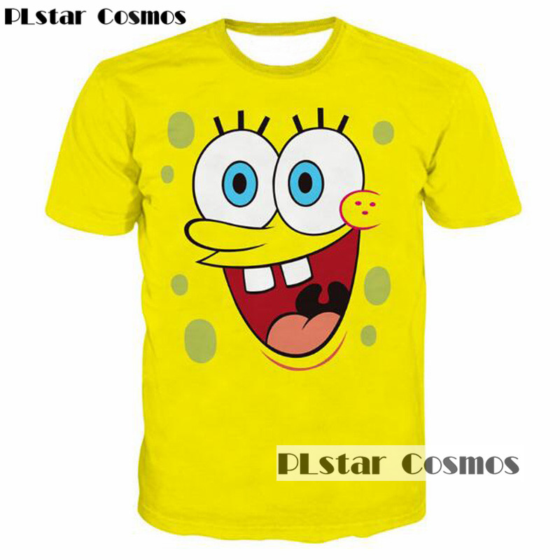 PLstar Cosmos Womens Casual T-shirt Funny Laugh Cute Cartoon 3D Printed Unisex Tee tshirt Novel Digital Print T Shirt Tops 5XL