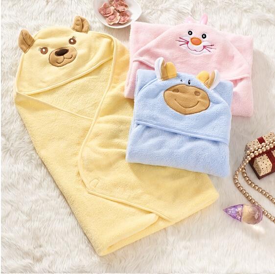 Baby Blanket / Autumn Winter 3 Colors Parisarc Wrap 75*75cm Infant Coral Fleece Cartoon Characters Blankets