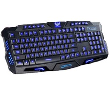 Best Tri-color Breathing Switchable LED Backlit Professional Optical USB Wired Gaming Keyboard for Laptop PC Game Gamer Keyboard