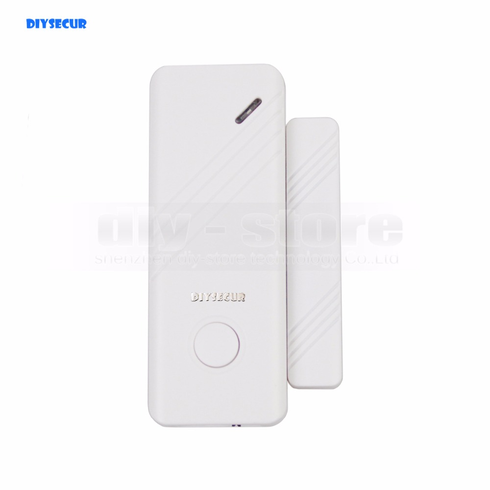 DIYSECUR DIY K2 Wireless 433Mhz Door Magnetic Sensor for Our Related Home Alarm Home Security System Gap sensor smartyiba wireless door gap window sensor magnetic contact 433mhz door detector for home security alarm system