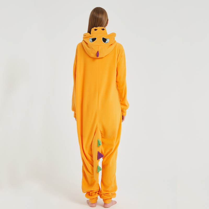 Pokemon Charizard Onesie Adult Women Men Pajamas Cartoon Animal Charmander Dragon Costume Party Winter Warm Cute Pyjama Sleep (2)