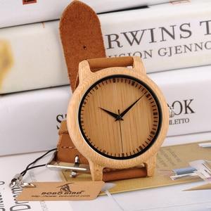 Image 3 - BOBO BIRD ออกแบบแบรนด์ผู้หญิงไม้ไผ่นาฬิกาหนังควอตซ์นาฬิกาสำหรับผู้หญิง Drop Shipping