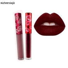 2018 velve matte liquid lipstick make up sexy beauty makeup brand lip tint black lip stick lipgloss matte batom Korean cosmetics