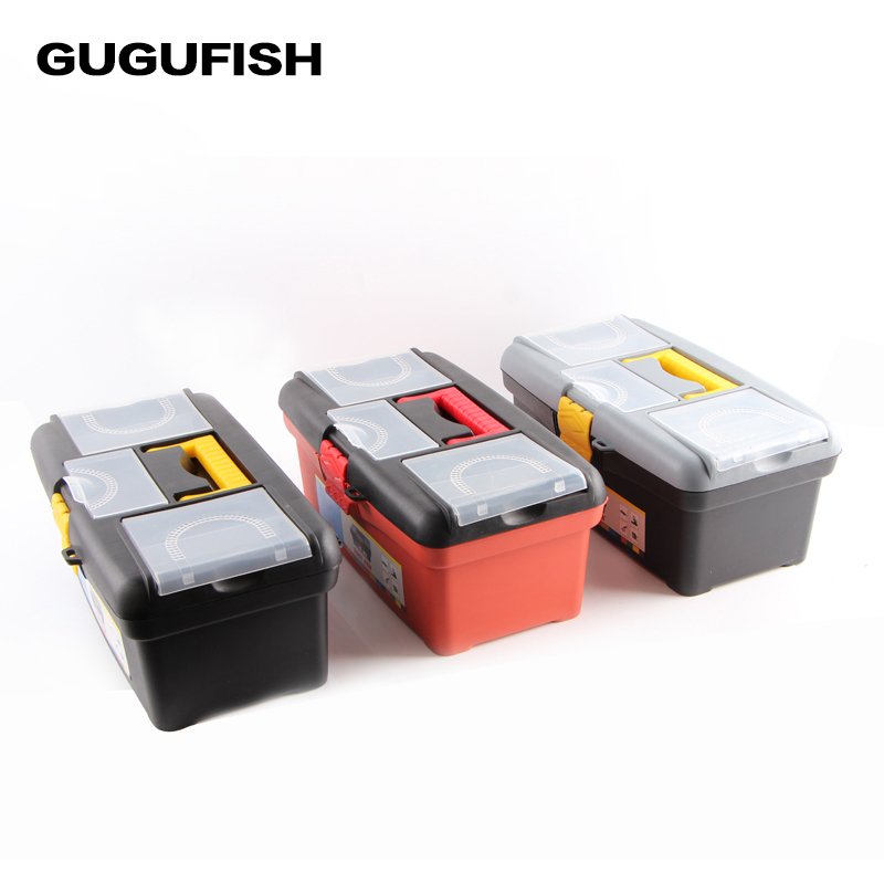 Gugufish high capacity fishing tool box 364 200 154mm for Fishing tool box