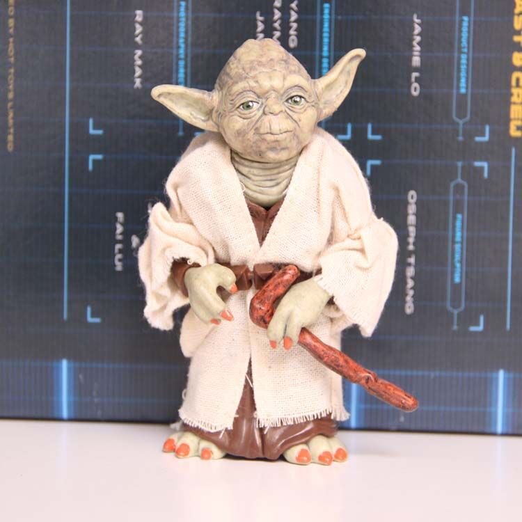 Star Wars Jedi Knight Master Yoda PVC Action Figure Collectible Model Toy Doll Gift 12cm fantastic four knight ultimate stonema thing human torch doll handmade toy model marvel t21