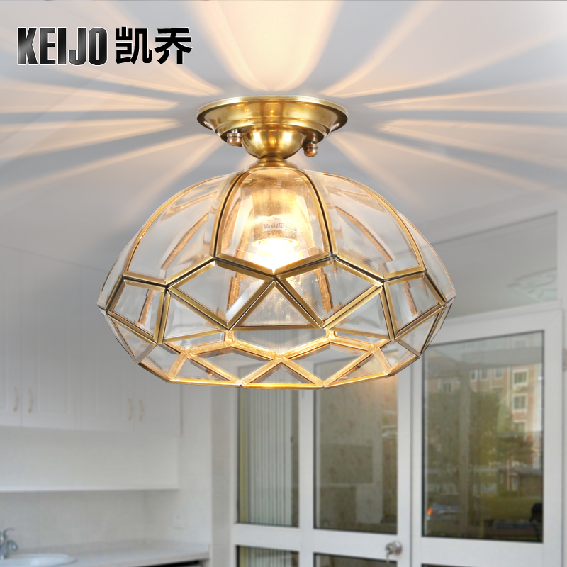 ФОТО American classical rural style full copper ceiling lamp corridor lamp, high end lamps and lanterns