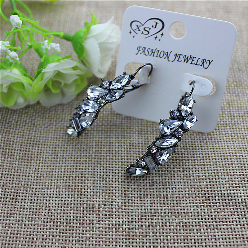 2017Popular beautiful ladies accessories wholesale girl birthday party beautiful ear hook type earrings shipping agent