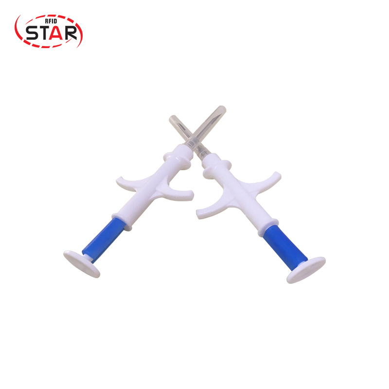 Free shipping 20pcs 1.4*8mm Microchip Syringe Iso FDX-B 134.2khz Animal dog id injector For Pig Cattle Identification 20pcs iso 1 4 8mm 134 2khz microchip injector animal id tag rfid chip syringe for dog cat